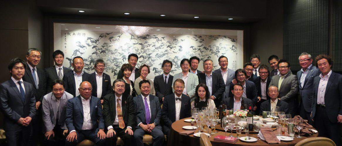 台湾民進党六代目主席として活躍された施明徳講師として迎え、その後歓迎晩餐会。